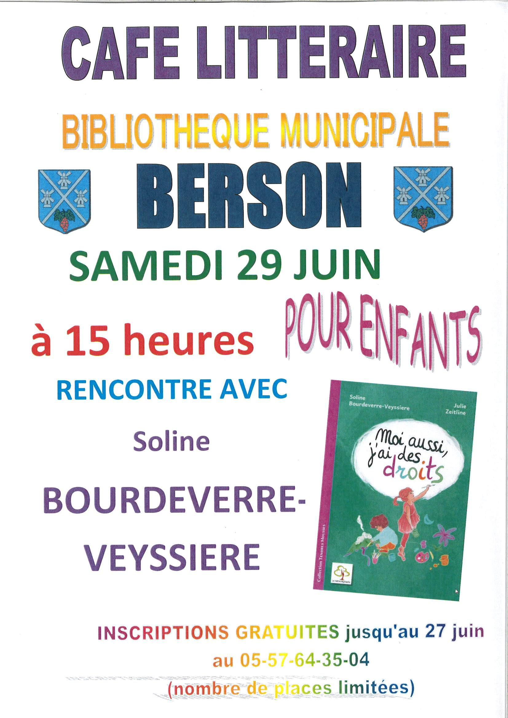 Café Littéraire @ Bibliothèque Municipale de Berson